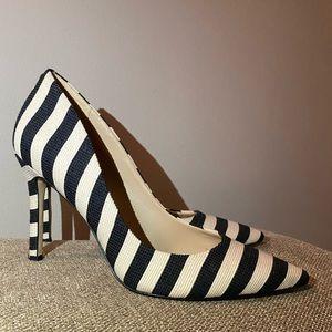 SAM EDELMAN Zebra Black And White Pumps